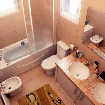 Если туалет придвинуть ближе к ванной, то в комнате легко поместится два умывальника