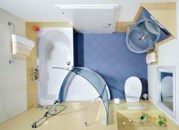 Совместив туалет с ванной комнатой, можно установить ванну гибрид (совмещение ванной и душевой кабинки)