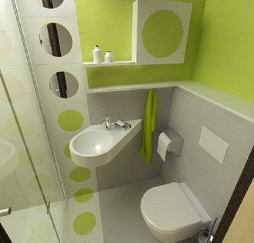 Сделав умывальник в виде капли, вы не будете ударяться об него, используя туалет