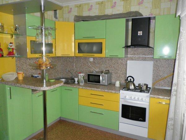 Сочетание пастельных оттенков зеленого и желтого положительно влияет на усваивание пищи
