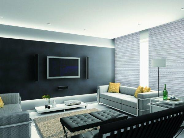 Любителям серого понравится сочетание цвета обоев со стилем мебели