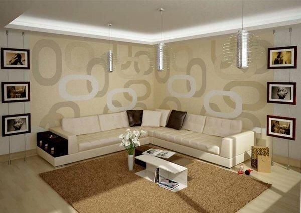 Современный стиль может отражаться не только в мебели и аксессуарах, но и в стенах
