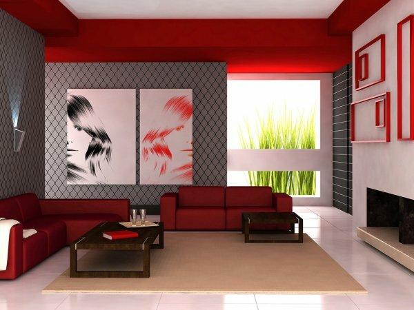 В каталогах дизайнеров все чаще можно найти вариацию классики: красное-серое или красное-черное