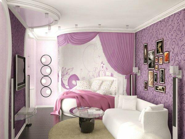 Бело-розовая детская в романтическом стиле