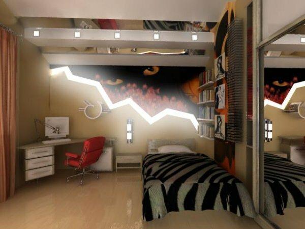 Комната в лаконичном минималистическом стиле