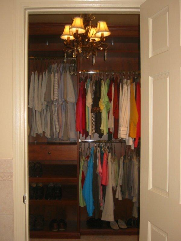 Классическая гардеробная из большой кладовой