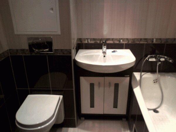 Кофейный совмещенный туалет