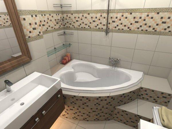 Маленькая ванная «Сердце»
