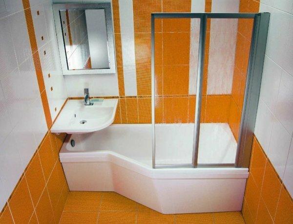 Оранжево-белая с пластиковым экраном