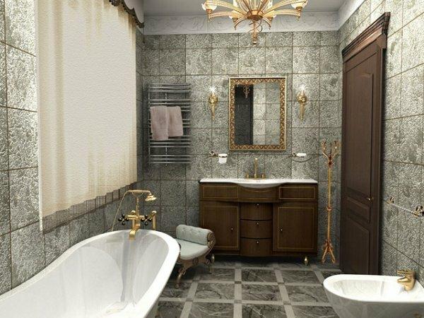 Совмещенный туалет в ретростиле