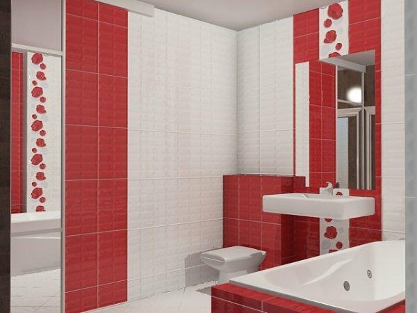 Бело-красный туалет «Маки»