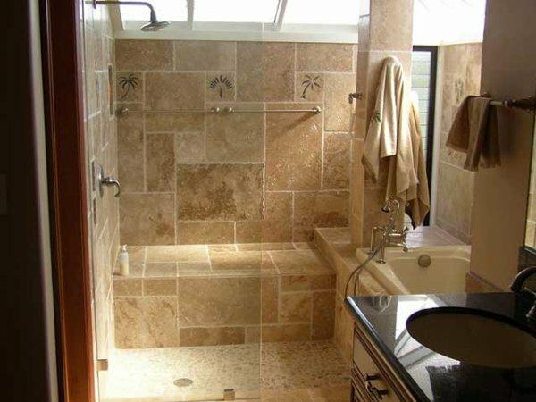 Совмещенный туалет в средиземноморском стиле
