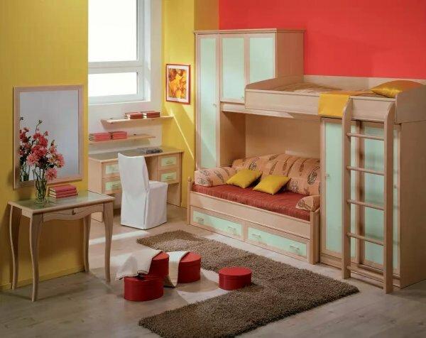 Кровать-чердак для юной леди