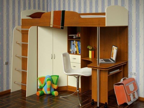 Кровать-чердак для младшего школьника