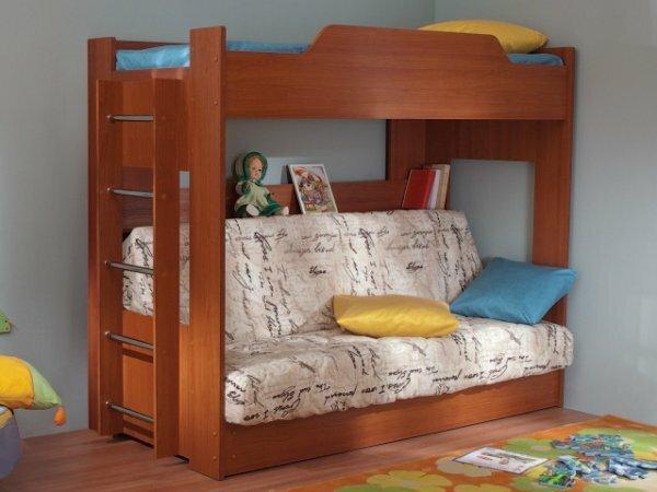 Романтичная кровать-чердак для девочки