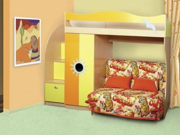 Кровать=чердак с комодом-лестницей