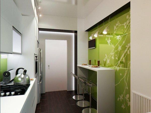 Современный подход к обустройству маленькой кухни