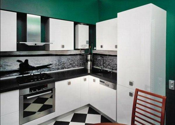В современном дизайне каждому предмету кухонного интерьера найдется свое место