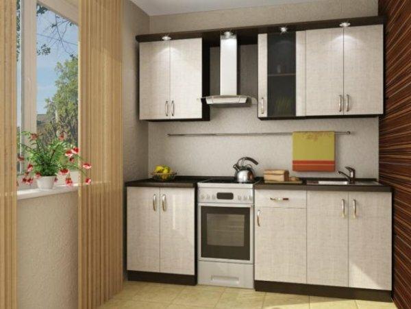 Горизонтальная полоска сделает кухню визуально длиннее