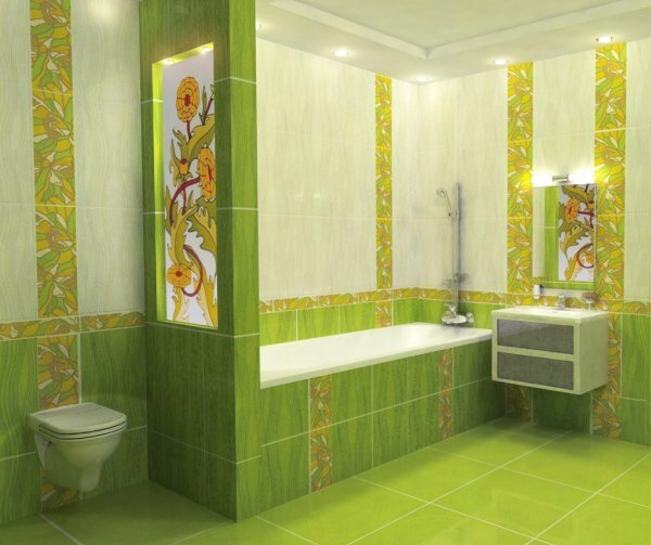Зеленая ванная «Цвета весны»