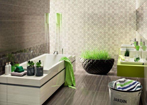 Бежевая ванная «Геометрия»