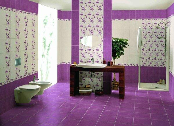 Фуксиевая ванная «Крокусы»