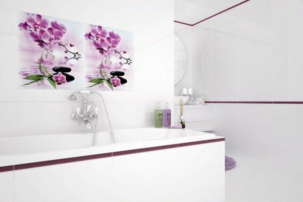 Белая ванная «Цвет сакуры»