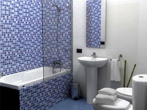 Лаконичная синяя мозаика
