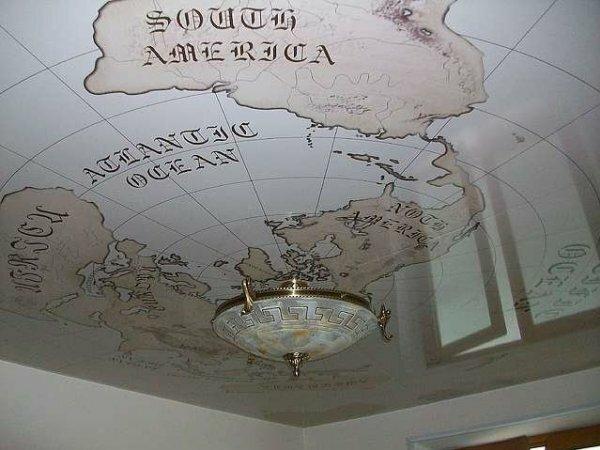 Оригинальная «старинная карта» для классического интерьера