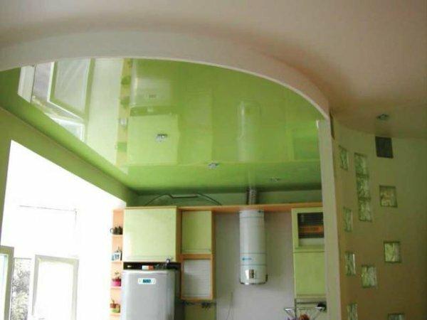 Зеленая глянцевая панель