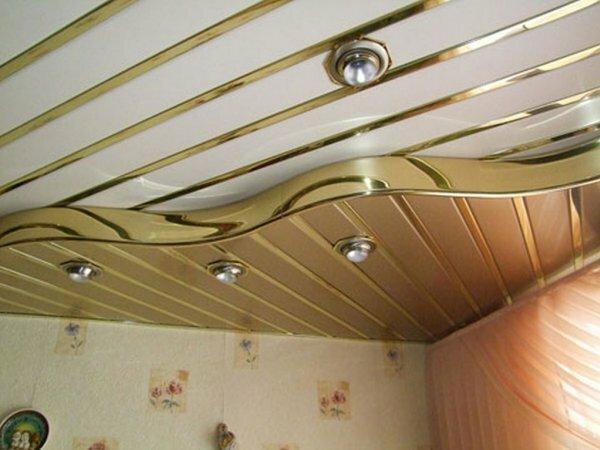 Закрытый двухуровневый потолок