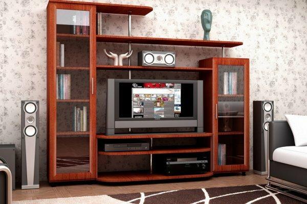 Стенка для домашнего кинотеатра с книжными шкафами