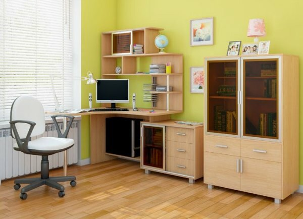 Стол для подростка с небольшим стеллажом