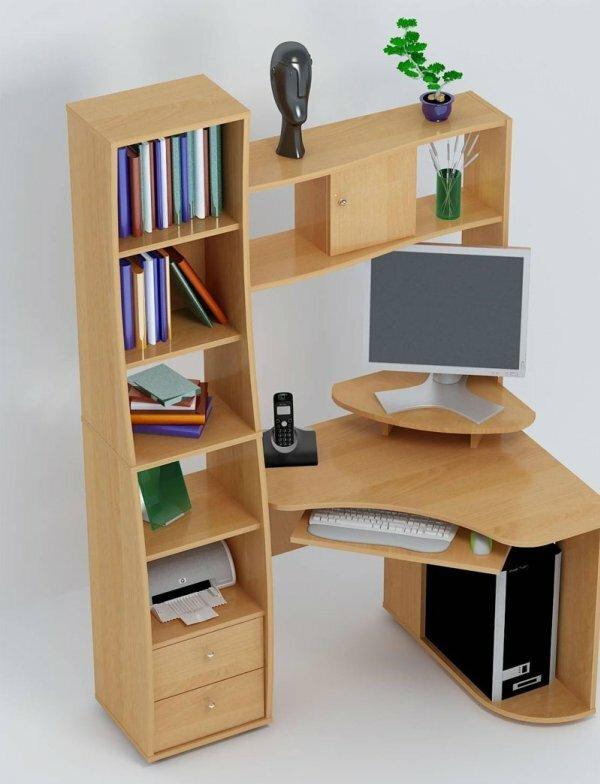 Стол для старшеклассника со стеллажом