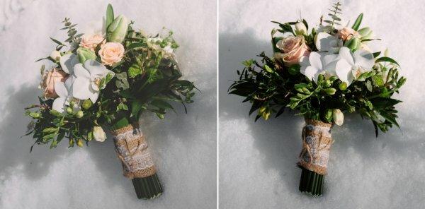 Простой лоскут мешковины превратит в дизайнерский букет даже простые цветы