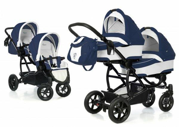 В отличие от рядных колясок для двойни с такой легко управляться в одиночку