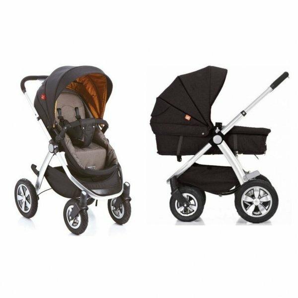 Выбирайте универсальные коляски для новорожденных, чтобы не покупать новую к летнему сезону. Фото, представленное выше– отличный пример