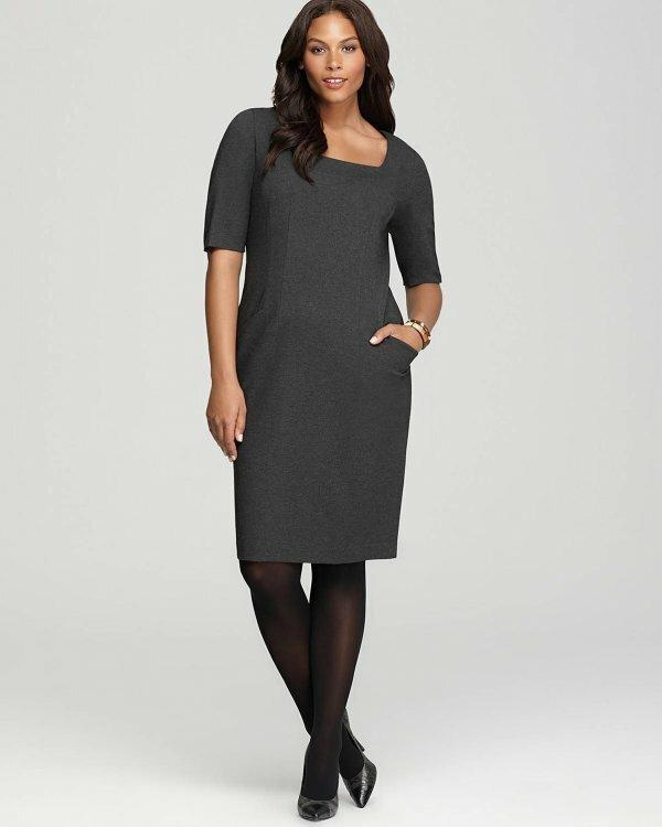 Фото платья из плотных материалов
