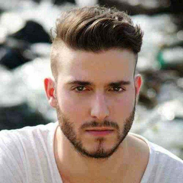 Мужскую прическу андеркат модно сочетать с бородой