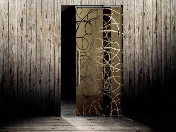 На фото межкомнатная панель для стиля хай-тек или модерн