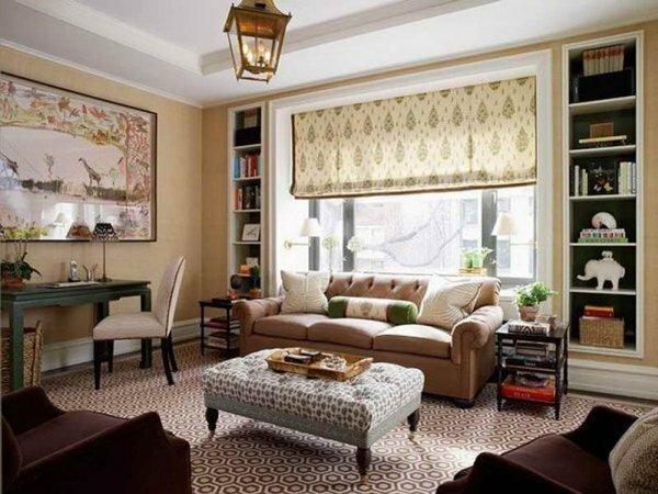 Рулонные занавеси идеально вписываются в минималистический дизайн комнаты