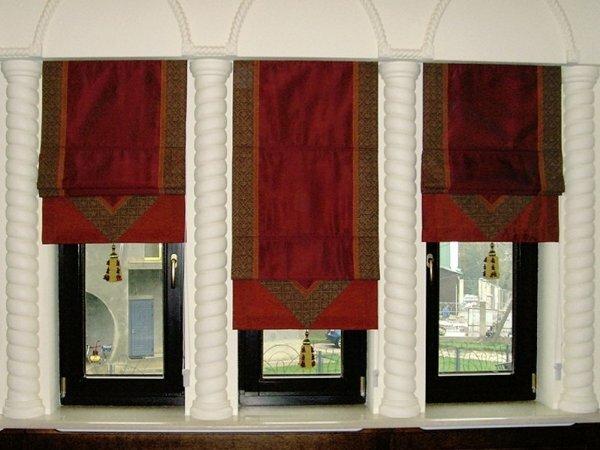 Шикарные римские шторы с узором