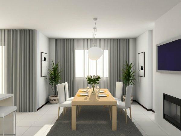 Светло-серые тона – минимализм, присущий стилю хай-тек