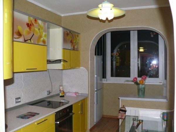 Маленький балкон поможет расширить кухню