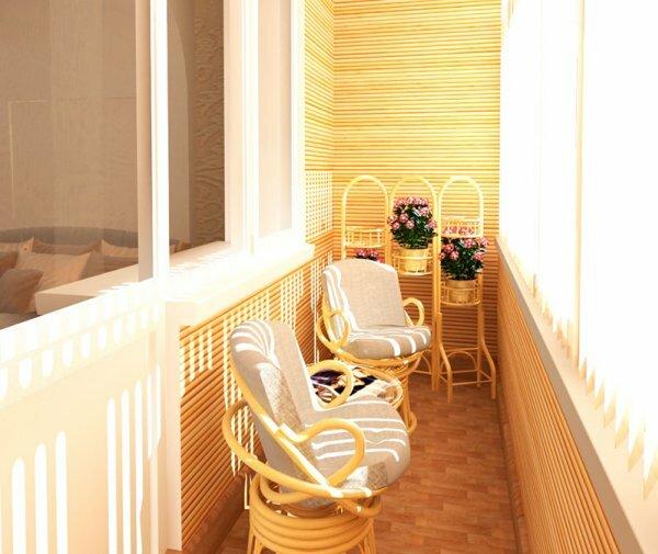 Оригинальный дизайн балкона в хрущевке