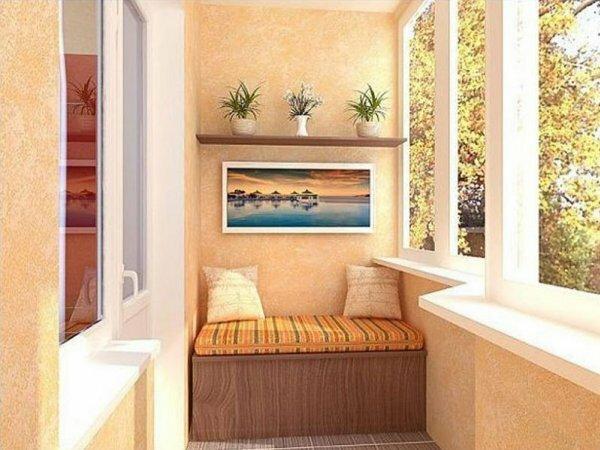 Дизайн балкона в хрущевке для тех, кто ценит простоту