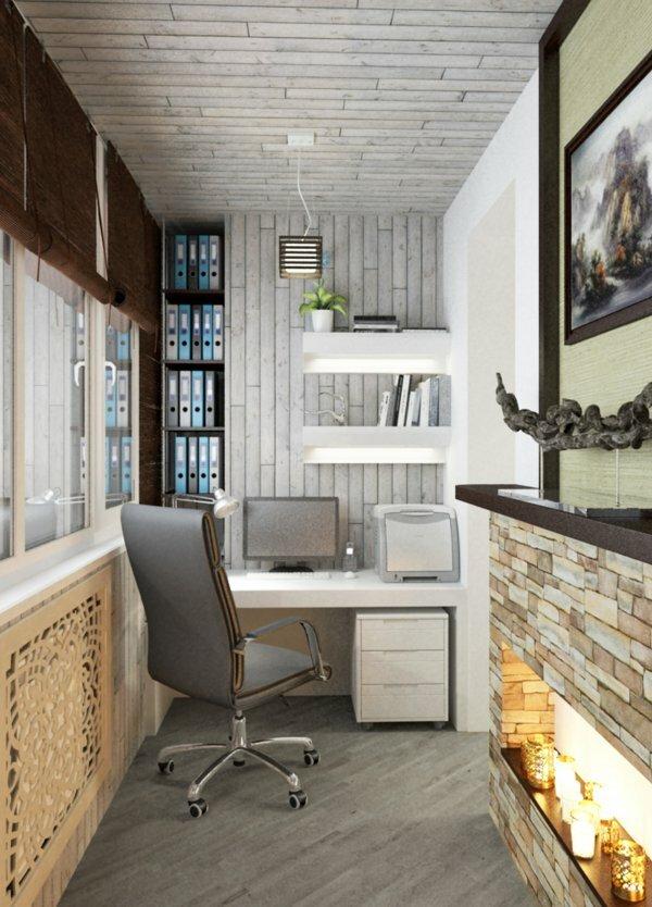 Рабочее место на балконе – превосходная идея