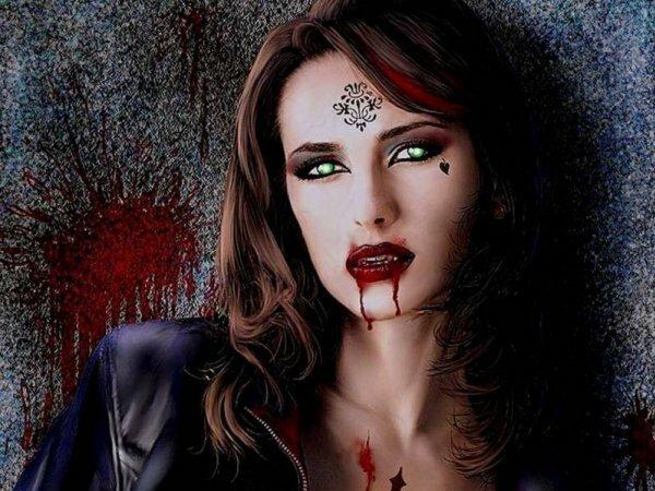 Фото с девушкой-вампиром в «Одноклассники» – признак неординарной личности