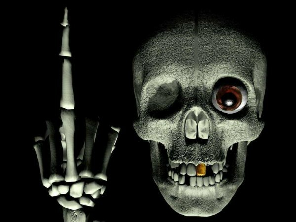 Аватарка с черепом является не только символом смерти, но и жизненной энергии