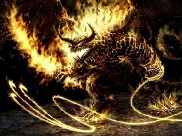 На фото пример демонических существ, с которыми идет извечная борьба